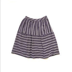 Anthropologie Maeve Dobby Dash Midi Striped skirt